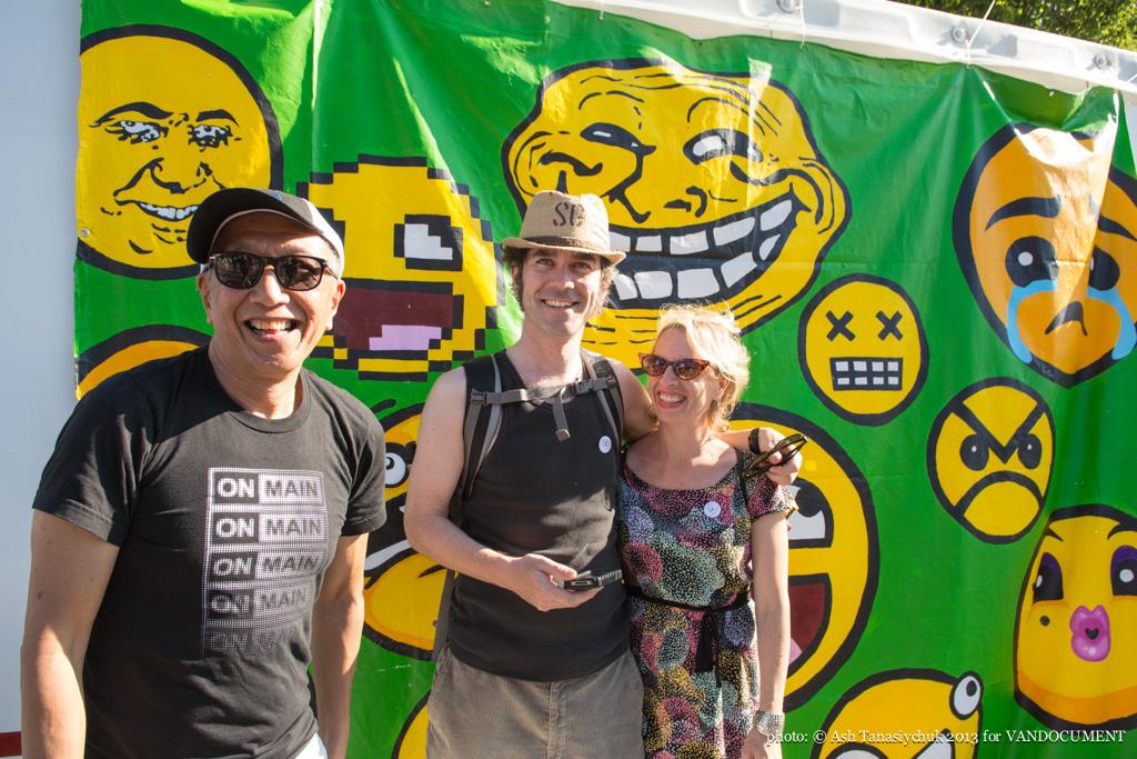 Paul Wong at Khatsahlano art & music fest, Kitsilano, Vancouver BC, 2013. Photo by Ash Tanasiychuk