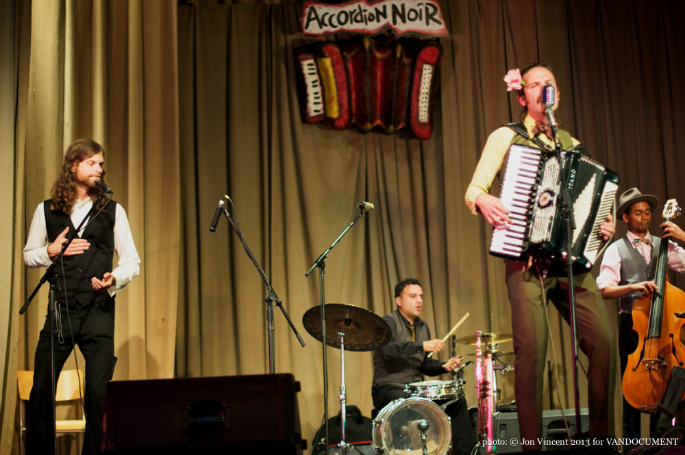 Jack of Hearts @ Accordion Noir Fest, Russian Hall, Vancouver BC, 2013. Photo by Jon Vincent for VANDOCUMENT