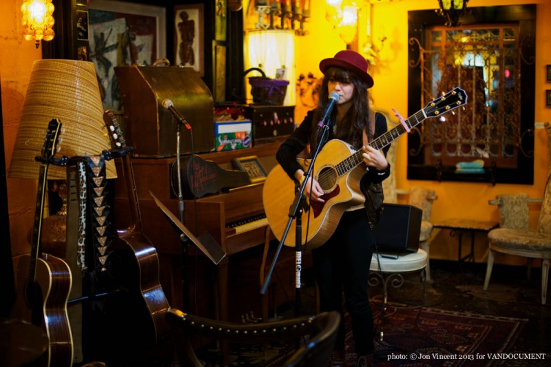 Allysa Baker @ Prophouse, Vancouver BC, 2013. Photo by Jon Vincent for VANDOCUMENT