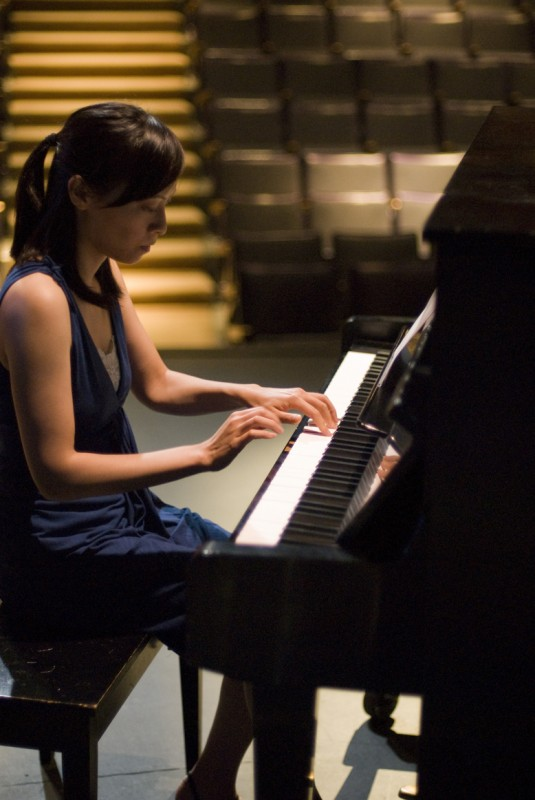 Murder at the Orient Street Express features Yvette Lu as Amy Ng a pianist and friend to a fading diva. Photo by Wayne Stadler.