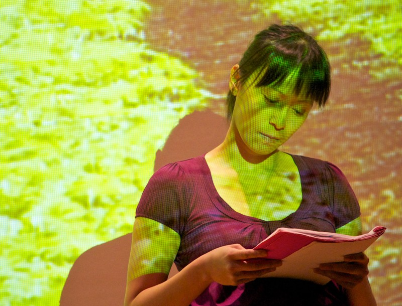 Yvette Lu reading her play Stories from the Closet.