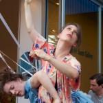 Kelly McInnes, Rianne Svelnus, Ben Brown. Mine Agente performance @ Emily Carr University of Art & Design, Vancouver BC, 2014. Photo by Ravi Gill for VANDOCUMENT
