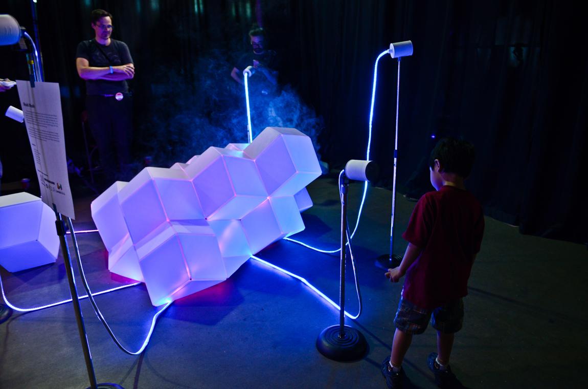 New Canadian Public Art: Moshimoshi @ Vancouver Mini Maker Faire, 2014. Photo by Alisha Weng for VANDOCUMENT