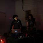 DJ furiousgreencloud & VJ Hot Jupiter @ Red Gate Arts Society. Photo by Andi Icaza-Largaespada