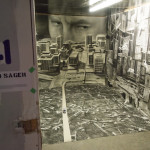 Vjeko Sager's Underground Kontinent. Thru The Trapdoor, 1965 Main St, Vancouver BC, 2014. Photo by Ash Tanasiychuk for VANDOCUMENT
