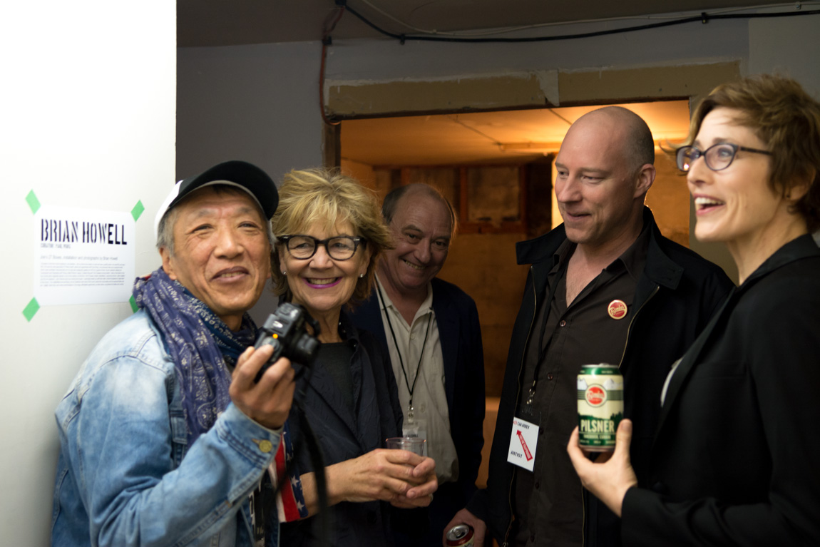 Thru The Trapdoor opening night, 1965 Main St, Vancouver BC, 2014. Photo by Ash Tanasiychuk for VANDOCUMENT