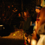 Burnaby Mountain Protest At Night. November 2014. Photo by Corie Waugh.