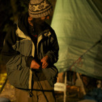 Burnaby Mountain Protest At Night. November 2014. Photo by Corie Waugh for Vandocument