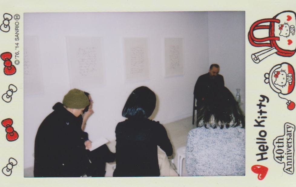 Gestures of Distance: Far Away So Close Part II. Reading by Stephen Collis @ Access Gallery. Photo by Irene Lo for Vandocument.
