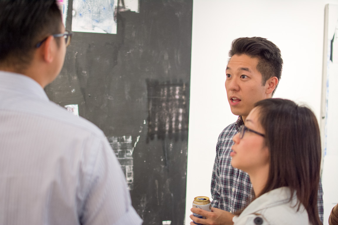 "Russell Leng ""Too Many Maps"" opening at FIELD Contemporary, Vancouver BC, June 2015. Ash Tanasiychuk photo for VANDOCUMENT"