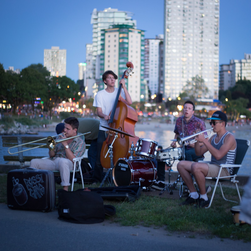 Carlo Rossi Gang at Beach Avenue, Vancouver BC 2014. Photo by Carlo Rossi Gang for VANDOCUMENT