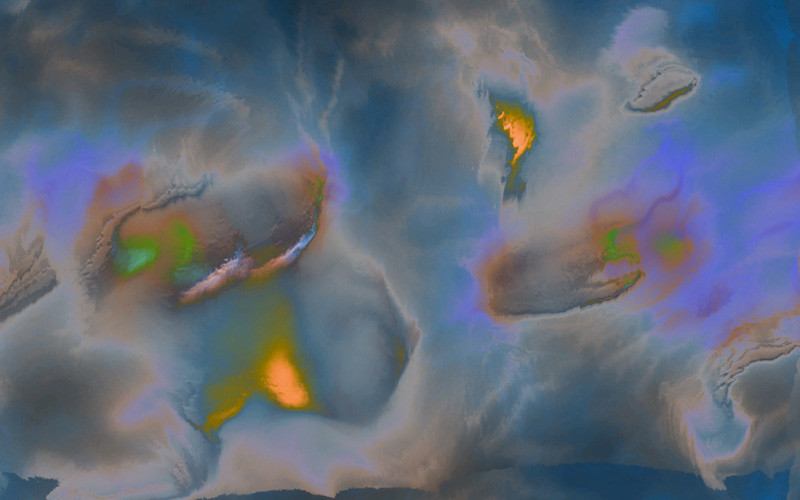 Sara Ludy, Cloud Pond 2, 2015 (still), computer-generated animation. Courtesy of the artist.