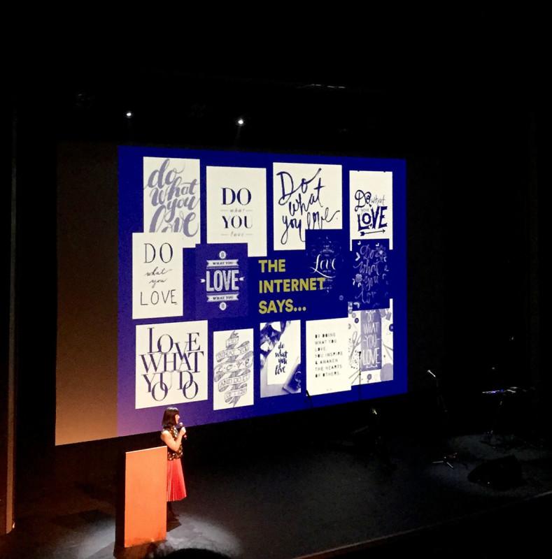 Pamela Rounis at Pecha Kucha 38 at the Vogue Theater