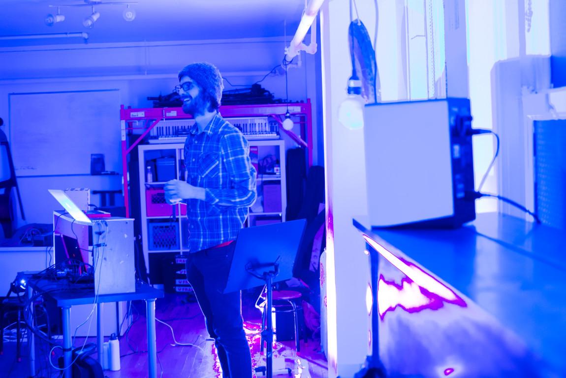 Matt Horrigan introducing the evening @ Gold Saucer. Photo by Ash Tanasiychuk for VANDOCUMENT
