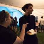 Curator Wynne Palmer and writer Justin Ramsey at Digital Carnival 2017. Photo by Ash Tanasiychuk