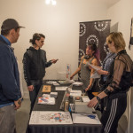 Art Book Fair Fundraiser at Remington, Vancouver BC 2017. Photo by Rennie Brown for VANDOCUMENT