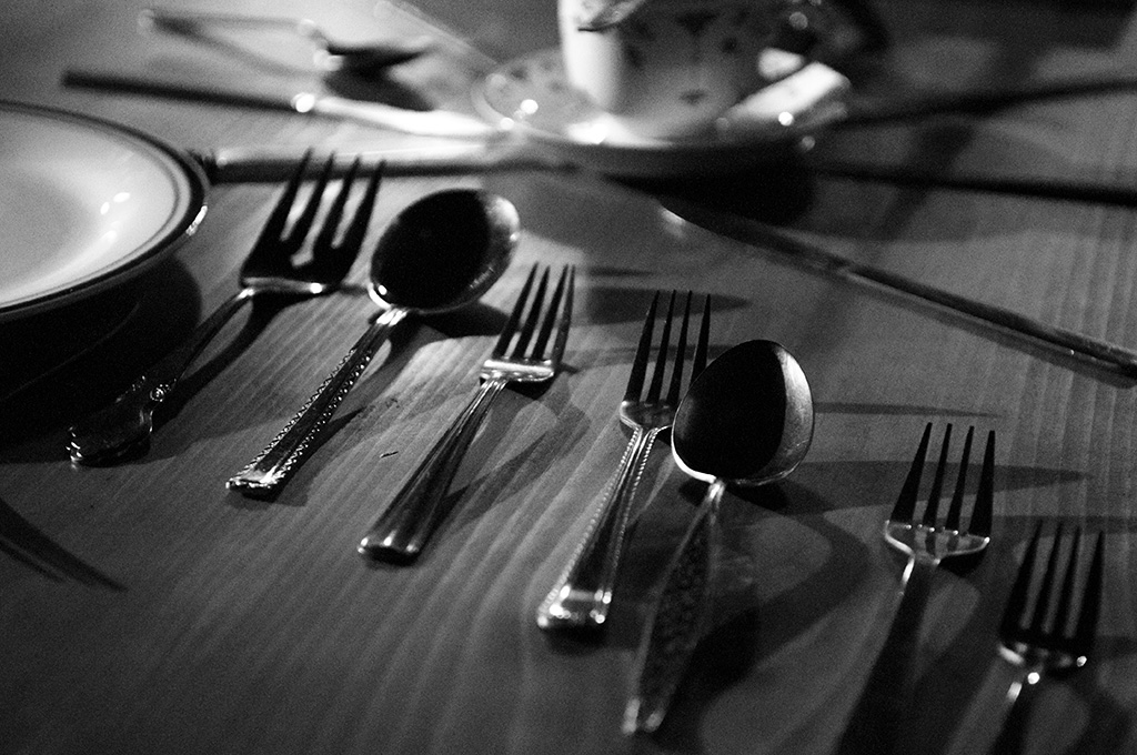 cutlery on Feast table