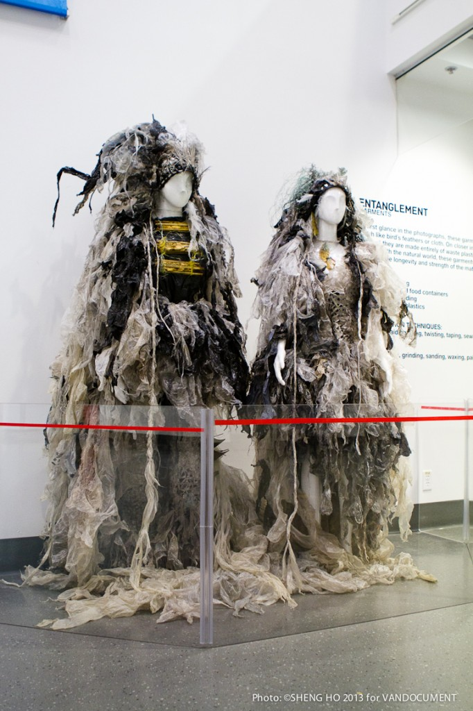 Michael JP Hall's Entanglement: A Vision Of Our World With Plastic at Science World, Vancouver BC, 2013