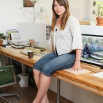 Artist Lauren Marsden in her studio, photo by Sheng Ho for VANDOCUMENT