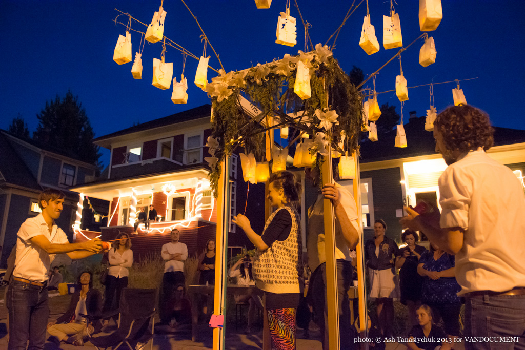 Robert Leveroos lantern ritual at Six Fest, East Vancouver 2013, photo by Ash Tanasiychuk