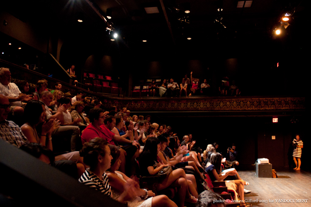 ArtQuake's OneLove youth festival at The Cultch, Vancouver BC, 2013. Photo by Jensen Gifford for VANDOCUMENT