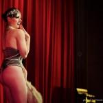 Tristan Risk @ Accordion Noir Fest, Russian Hall, Vancouver BC, 2013. Photo by Jon Vincent for VANDOCUMENT