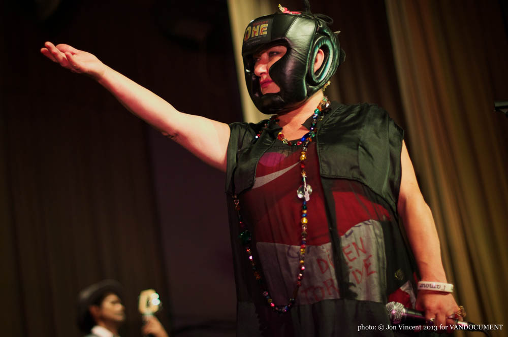 Something About Reptiles @ Accordion Noir Fest, Russian Hall, Vancouver BC, 2013. Photo by Jon Vincent for VANDOCUMENT