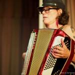 Katheryn Petersen @ Accordion Noir Fest, Russian Hall, Vancouver BC, 2013. Photo by Jon Vincent for VANDOCUMENT
