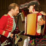 Katheryn Petersen and Noah Walker @ Accordion Noir Fest, Russian Hall, Vancouver BC, 2013. Photo by Jon Vincent for VANDOCUMENT