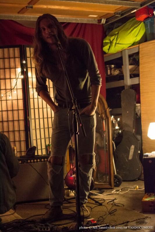 End of Summer house concert's host Alan Derksen, Vancouver BC 2013