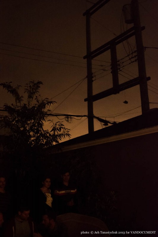 evening sky, urban silhouette, Strathcona Vancouver BC 2013