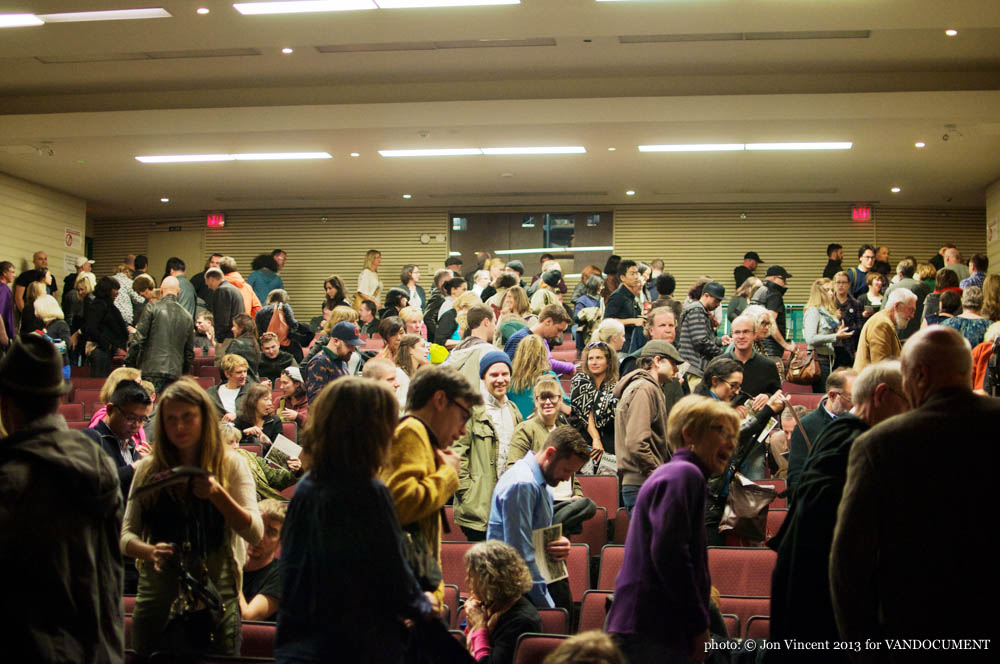 Edward Burtynsky talk @ Langara College, Vancouver BC, 2013. Photo by Jon Vincent for VANDOCUMENT