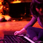 Sarah Davachi performing at Destroy Vancouver, Snooze Fest @ VIVO, Sept 26 2013. Photo by Jon Vincent for VANDOCUMENT