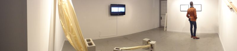 Diffractions of the Local opening night @ Back Gallery Project, Vancouver BC. Photo by Gabriela Aceves.