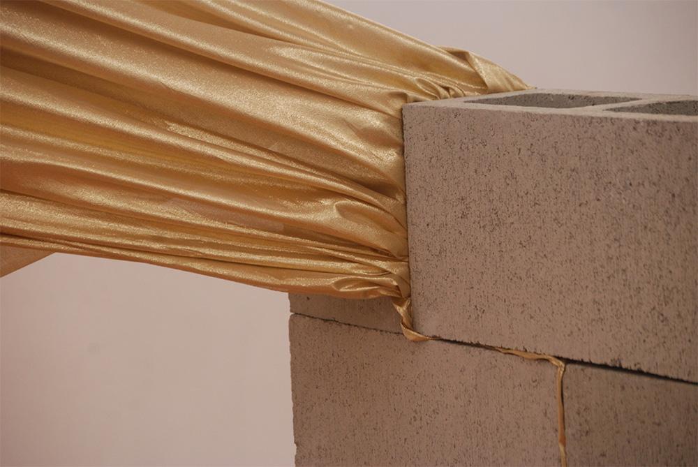 Guadalupe Martínez, 'Segundo Escape / Second Escape' (assembled cinderblocks and fabric)