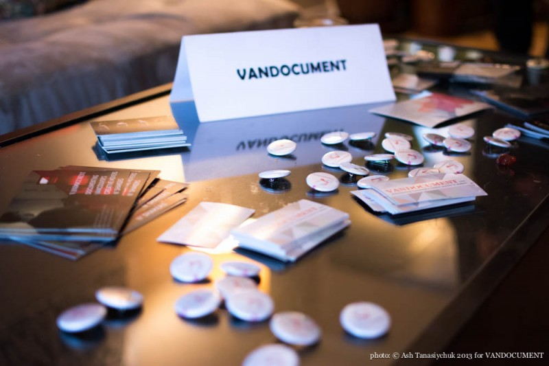 VANDOC swag at the VANDOCUMENT Six Month House Concert, Vancouver BC, 2013. Photo by Ash Tanasiychuk