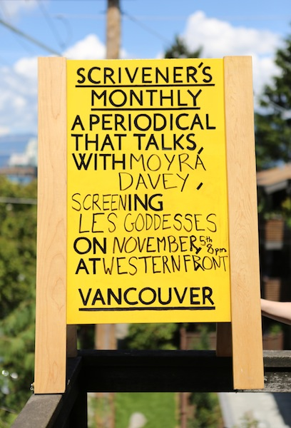 Scrivener's Monthly: A Periodical That Talks, with Moyra Davey, at Western Front, Vancouver BC, Canada, 2013