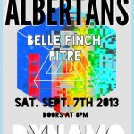 The Albertans + Belle Finch + Pitre @ Dynamo Arts Association, Sept 7 2013, Vancouver BC