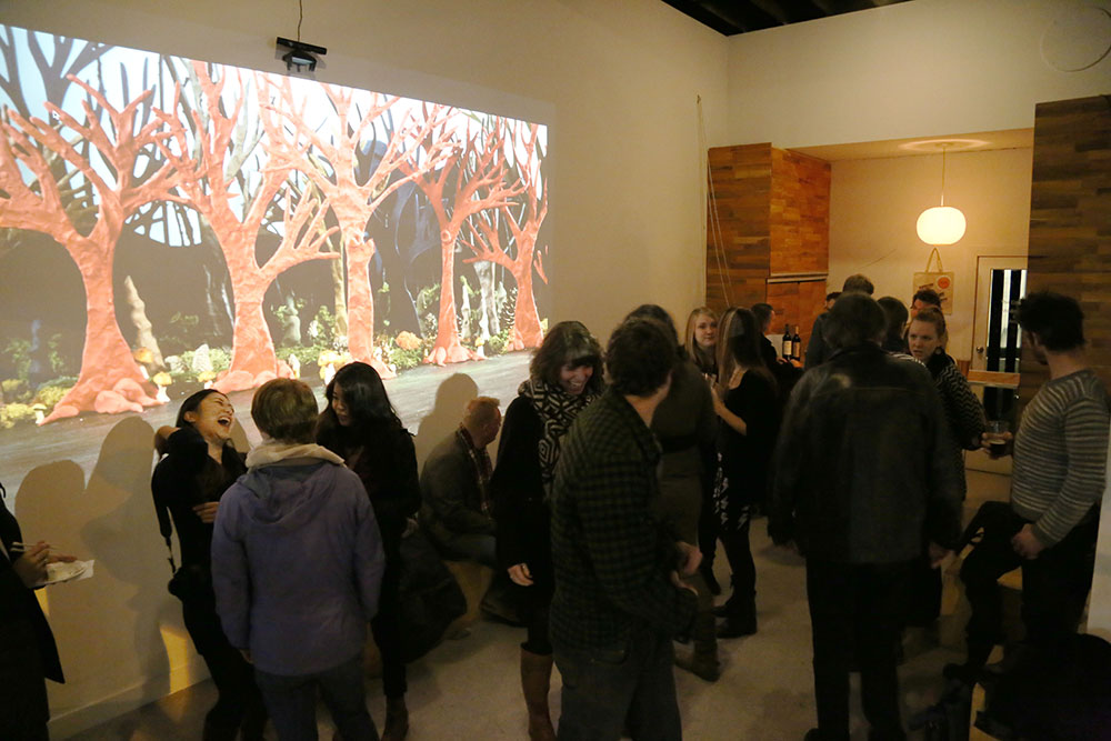 "Annie Briard's ""The Woods"" at VIVO, Vancouver BC, 2013"