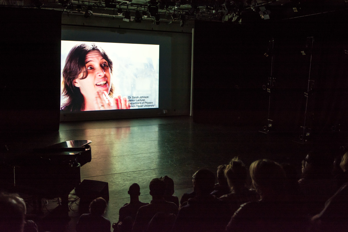 Screening of Rami Katz's film at 2013 LAUNCH Festival, SFU Woodward's, Vancouver BC. Photo by Ash Tanasiychuk