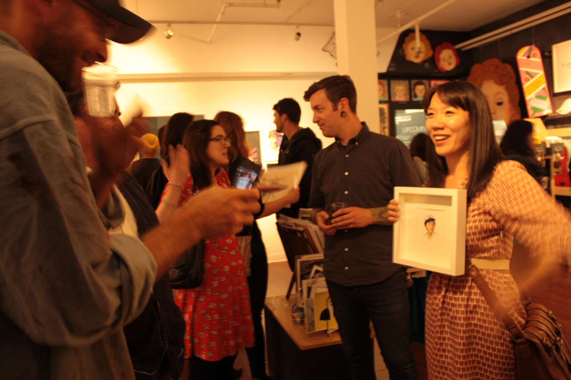 Revenge of the Art Show at Hot Art Wet City, Vancouver BC, 2014. Photo by Jen Kennedy for VANDOCUMENT