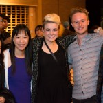 Reception: Yvette Lu, Chersea, Connor Roff, Tegan Wahlgren (l-r, with friend). Photo by Ash Tanasiychuk for VANDOCUMENT
