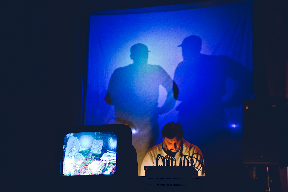 Chad Thiessen and Jaymes Bowman in Sounds at Sunset at Sunset Terrace, Vancouver BC 2014. Photo by Alisha Weng for VANDOCUMENT