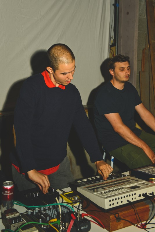Daniel Rincon and Chad Thiessen in Sounds at Sunset at Sunset Terrace, Vancouver BC 2014. Photo by Alisha Weng for VANDOCUMENT