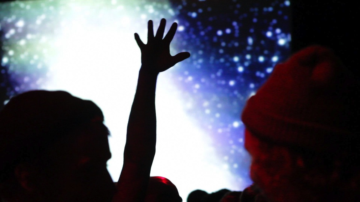 Jeff Mills @ New Forms Festival 13, Vancouver BC 2013. Video still by Leslie Kennah for VANDOCUMENT