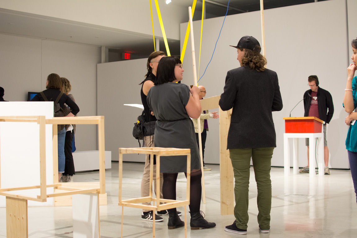 Lossless, SFU MFA Graduating Opening Exhibition at Audain Gallery, 2014. Photo by Ash Tanasiychuk for VANDOCUMENT