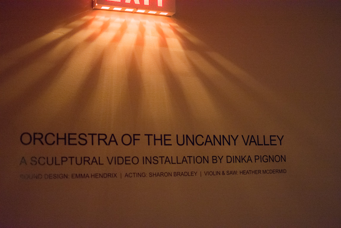 Orchestra of the Uncanny Valley @ VIVO. SWARM 15, Vancouver BC, 2014. Photo by Ash Tanasiychuk for VANDOCUMENT