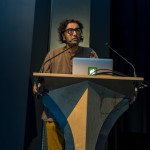 "Am Johal speaking at ""Vancouver in the 21st Century"" @ SFU W, Vancouver BC, 2014. Photo by Harley Spade for VANDOCUMENT"