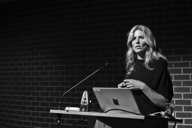 Performing Home: Enacting A New Choreography of Belonging,  A Lecture by Carrie MacLeod @ SFU Woodward's, Vancouver BC, 2014. Photo by Alisha Weng for VANDOCUMENT