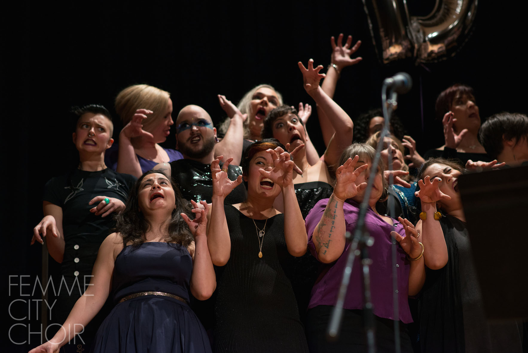 Femme City Choir in Divas! at Vancouver Community College Auditorium, Vancouver BC 2015 Photo by RDM Photography and Art